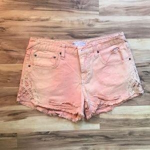 free people jean shorts.